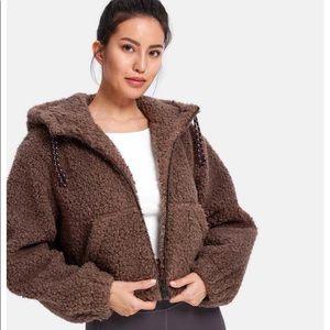 LIT cropped teddy jacket lined super warm